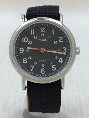クォーツ腕時計/アナログ/ナイロン/BLK