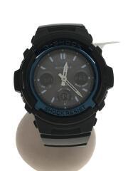 カシオ/ソーラー腕時計・G-SHOCK/デジアナ/ラバー/BLK/BLK