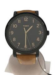 タイメックス/クォーツ腕時計/アナログ/レザー