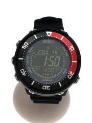 セイコー/ソーラー腕時計/デジタル/ラバー/BLK/BLK