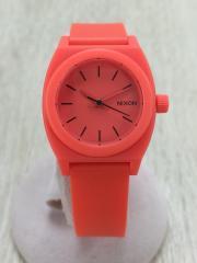 クォーツ腕時計/アナログ/3針/ラウンド/RED