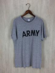 Tシャツ/XL/--/GRY/80s/後期トリコタグ/ARMYプリント/霜降り