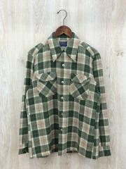 オープンカラーシャツ/M/ウール/60~70s/MADE IN USA/VINTAGE/