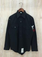 ブラックシャツ/15.5/--/BLK/VINTAGE/70s/USED/ヴィンテージ/USED