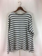 長袖Tシャツ/L/コットン/WHT/ボーダー/17SS