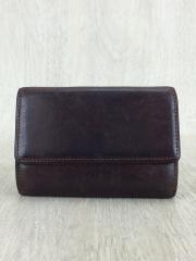 3つ折り財布/レザー/BRW/メンズ