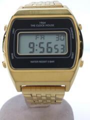 クォーツ腕時計/デジタル/BLK/GLD/MTC7003