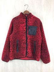 17AW/Leopard Fleece Reversible Jacket/M/ポリエステル/RED