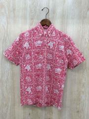 アロハシャツ/--/コットン/RED/総柄