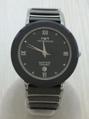 クォーツ腕時計/アナログ/ステンレス/BLK/BLK/T9120/