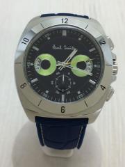 クォーツ腕時計/アナログ/ラバー/NVY/BLU/J524-S066662
