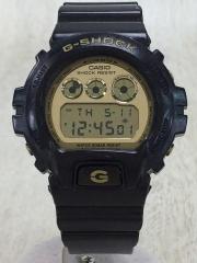 クォーツ腕時計/デジタル/GLD/BLK
