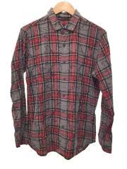 ネルシャツ/1/コットン/RED/チェック