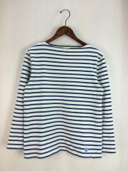 長袖Tシャツ/3/コットン/BLU/ボーダー