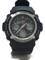 G-SHOCK/クォーツ腕時計/デジアナ/ラバー/BLK/BLK/AW-590/カシオ/ジーショック/BASIC ベーシック /