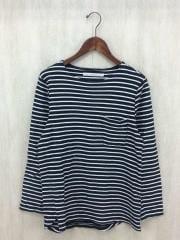 長袖Tシャツ/1/コットン/BLK/ボーダー