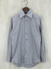 長袖シャツ/M/コットン/GRY/裾脇、袖、エリホツレ有り