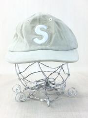 16AW Suede S Logo 6-Panel Cap/キャップ/FREE/スウェード/グレー/無地