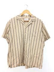 半袖シャツ/1/コットン/CML/ストライプ/開襟シャツ/W-008-5007