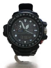 カシオ/GWN-1000B-1AJF/ソーラー腕時計・G-SHOCK/デジアナ/ラバー/BLK/BLK