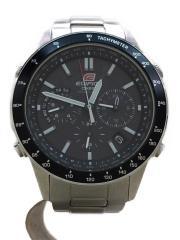 カシオ/EQW-550D-1AJF/ソーラー腕時計・EDIFICE/アナログ/SLV