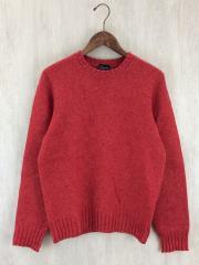 セーター(厚手)/46/ウール/RED/ドゥルモア