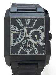 クォーツ腕時計/アナログ/ステンレス/BLK