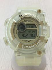 FROGMAN/W.C.C.Sモデル/トリプルマンタ/クォーツ腕時計/デジタル/ラバー/GLD/CLR