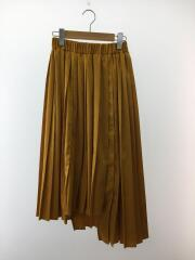 MACHATT/プリーツスカート/ロングスカート/--/ポリ/YLW/無地/光沢/マチャット