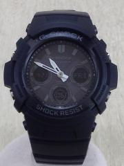 クォーツ腕時計/デジアナ/--/GRY/BLK