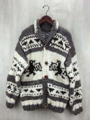 セーター(厚手)/--/ウール/WHT/カウチン/ノルディック