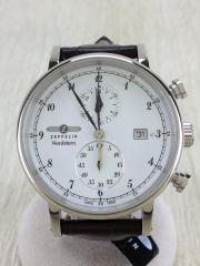 ノルドスタン/クォーツ腕時計/クロノグラフ/アナログ/WHT/BRW/75781/