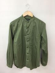 長袖バンドカラーシャツ/L/コットン/GRN/3211-166-2486/ヘムレイヤード