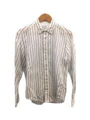 コットンリネンシャツ/XS/ホワイト/ネイビー/ストライプ/2+920700104/FINBAR/LIMITED
