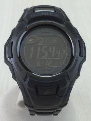 ソーラー腕時計/デジタル/ステンレス/BLK/BLK