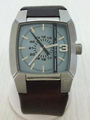 クォーツ腕時計/アナログ/レザー/BLU