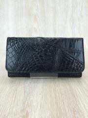 714477d67c09 クロコダイル/Crocodile/型押し財布/レザー/BLK/無地. ¥37,692. ALZUNI