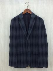 テーラードジャケット/50/コットン/GRY/灰色/中古/セカスト/ジャンブルストア