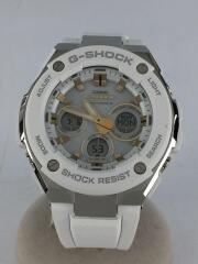 ソーラー腕時計・G-SHOCK/デジアナ/WHT/ホワイト