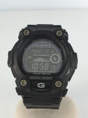 ソーラー腕時計・G-SHOCK/デジタル/BLK/ブラック/黒