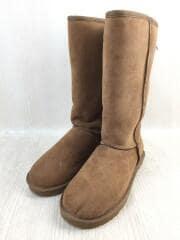 ブーツ/26cm/キャメル/スウェード/ロングブーツ