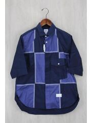 半袖シャツ/O/コットン/NVY/チェック/16SS