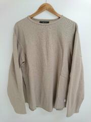 18SS/モスステッチロングスリーブTシャツ/25336/カノコ生地長袖Tシャツ/L/コットン/ベージュ