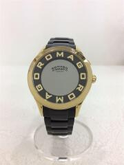 ロマゴデザイン/腕時計/デジタル/ステンレス/BLK