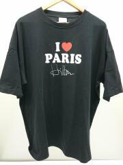 VETEMENTS8/Tシャツ/XS/コットン/ブラック/SS20TR248
