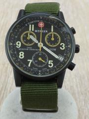 ウェンガー/クォーツ腕時計/アナログ/ナイロン/BLK/MOUNTAIN COMMANDO/7072X