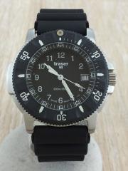 トレーサー/クォーツ腕時計/アナログ/ラバー/BLK/P6502420.32.01