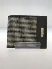 バーバリーブラックレーベル/2つ折り財布/レザー/ブラウン/チェック
