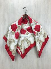 スカーフ/シルク/RED/花柄/レディース