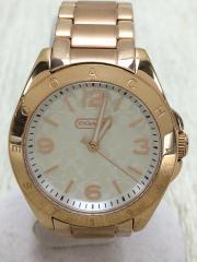 クォーツ腕時計/アナログ/--/WHT/GLD